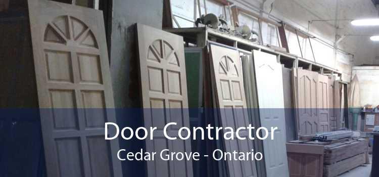 Door Contractor Cedar Grove - Ontario