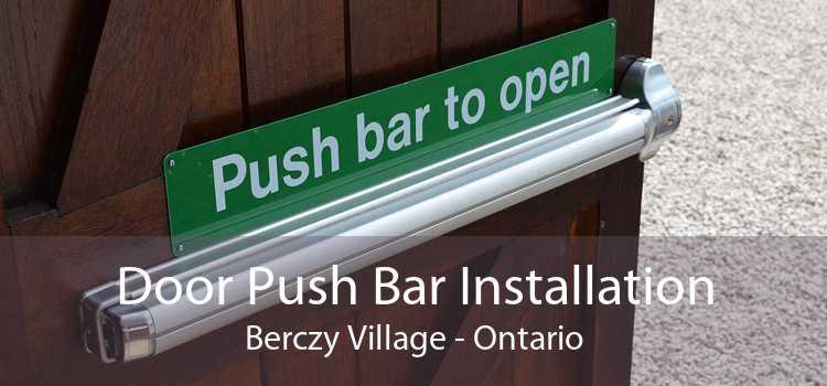 Door Push Bar Installation Berczy Village - Ontario