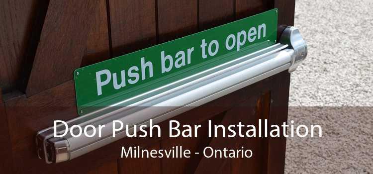 Door Push Bar Installation Milnesville - Ontario