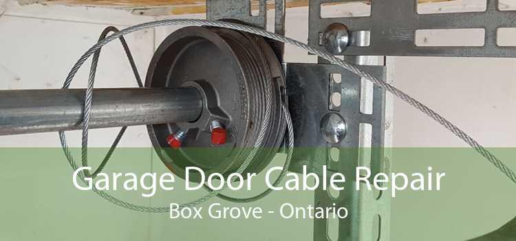 Garage Door Cable Repair Box Grove - Ontario
