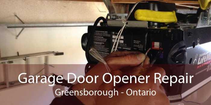 Garage Door Opener Repair Greensborough - Ontario