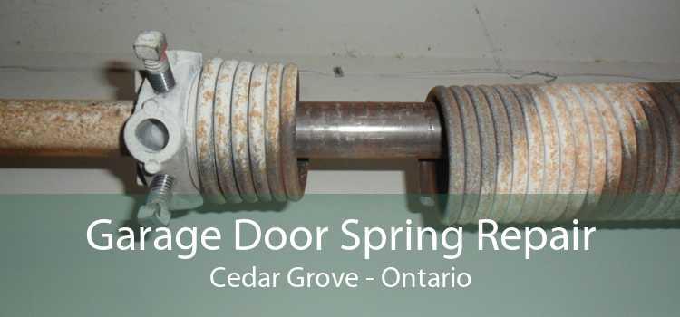 Garage Door Spring Repair Cedar Grove - Ontario