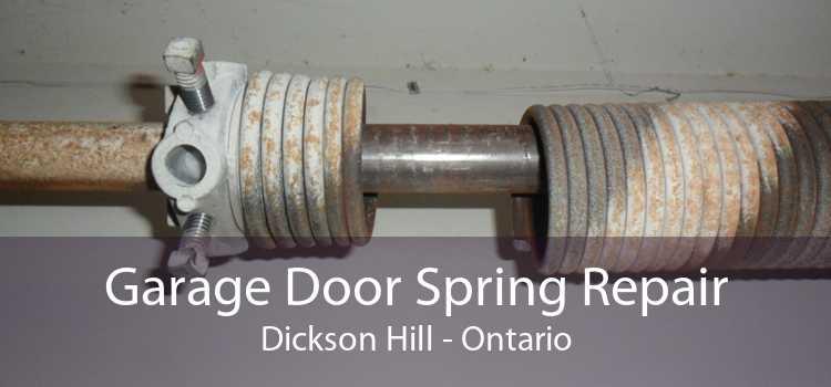 Garage Door Spring Repair Dickson Hill - Ontario