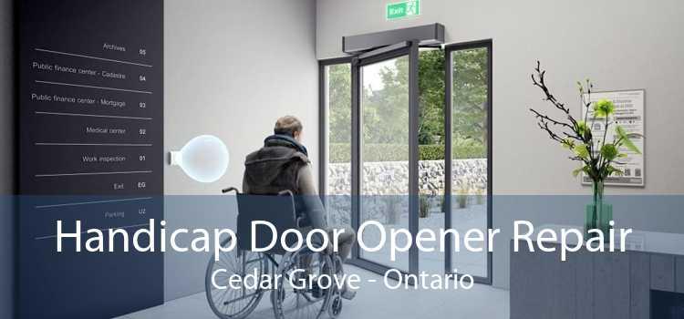Handicap Door Opener Repair Cedar Grove - Ontario