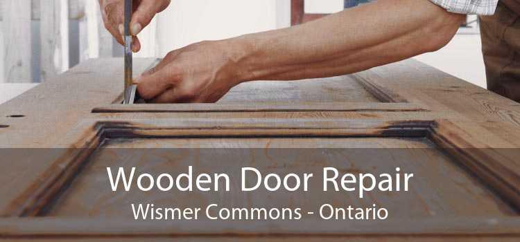 Wooden Door Repair Wismer Commons - Ontario